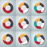 Vector circle arrows infographics set. Template for diagram Stock Photos