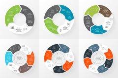 Vector circle arrows infographics set. Template Stock Image