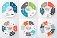 Vector circle arrows numbers 1, 2, 3, 4, 5, 6, 7, 8 infographic, diagram, graph, presentation, chart. Business cycle Royalty Free Stock Image