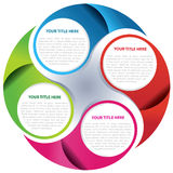 Vector circle background concept Royalty Free Stock Photography