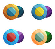 Vector circle banners. Illustration of abstract geometric template for option infographics, business diagram or presentation, graphic website, navigation Royalty Free Stock Photography