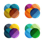 Vector circle banners. Illustration of abstract geometric template for option infographics, business diagram or presentation, graphic website, navigation Stock Images