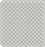 Vector. Circle based abstract tile pattern 3. Vector. Circles based abstract tile pattern 3 royalty free illustration