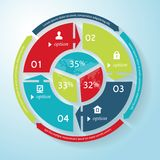 Vector circle business concept with icons, business Infographics Royalty Free Stock Photography