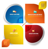 Vector circle business concepts with icons Royalty Free Stock Photo