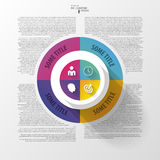 Vector circle business concepts with icons. Infographic Stock Photos