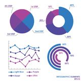 Vector Circle Business Infographics and Arrows Graphs Royalty Free Stock Photography