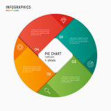Vector circle chart infographic template. 4 options, steps, part royalty free illustration