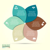 Vector circle eco infographic. Ecology template for diagram, graph, presentation and chart. Environmental care concept with 6 options, parts, steps or Royalty Free Stock Photo