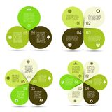 Vector circle eco infographics set. Layout for your options or steps. Abstract template for background Stock Photo