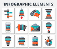 Vector circle element for infographic. Vector elements for business, education, startup infographic. Template for diagram, graph, presentation and round chart royalty free illustration