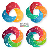Vector circle element for infographic. Royalty Free Stock Photos
