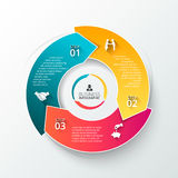 Vector circle element for infographic. stock illustration