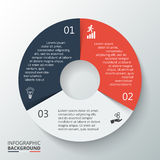 Vector circle element for infographic. Royalty Free Stock Photo