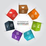 Vector circle element for infographic. Stock Image