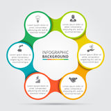 Vector circle element for infographic. Royalty Free Stock Image