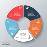 Vector circle element for infographic. Royalty Free Stock Images