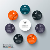 Vector circle element for infographic. Royalty Free Stock Photography