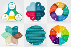 Vector circle elements for infographic. Stock Photography