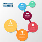 Vector circle elements for infographic. Template for cycling diagram.Abstract background Royalty Free Stock Image
