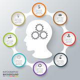Vector circle elements for infographic. Stock Photo