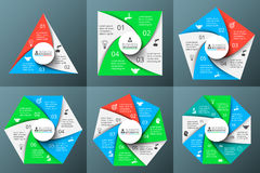 Vector circle elements for infographic. Royalty Free Stock Photography