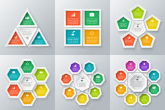 Vector circle elements set for infographic. Royalty Free Stock Images