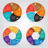 Vector circle elements set for infographic. Stock Images
