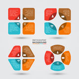 Vector circle elements set for infographic. Royalty Free Stock Image