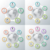 Vector circle elements set for infographic. Template for cycling diagram, graph, presentation. Business concept with 5, 6, 7, 8 options, parts, steps or royalty free illustration