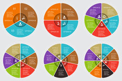 Vector circle elements set for infographic. Stock Photography