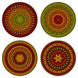 Vector Circle Ethnic Patterns. All brushes included, you can create your own pattern Vector Illustration