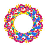 Vector circle floral frame.  Modern design element Royalty Free Stock Photography