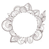 Vector circle floral frame. Stock Image