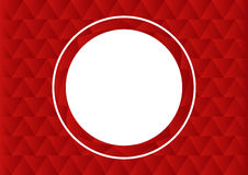 Vector circle frame. Vector empty frame with white place for text. Red background. Can be used as flyer, cover, business cards, envelope, and brochure background Royalty Free Stock Photography