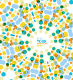 Vector circle geometric pattern mosaic background. This is file of EPS10 format Royalty Free Stock Photography