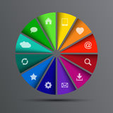 Vector circle with icons Royalty Free Stock Photo