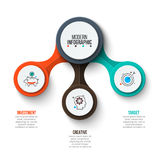 Vector circle infographic. Abstract infographics number options template. Vector illustration. Can be used for workflow layout, diagram, business step options Royalty Free Stock Photography