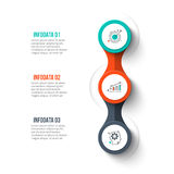 Vector circle infographic. Abstract infographics number options template. Vector illustration. Can be used for workflow layout, diagram, business step options Stock Photography