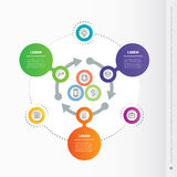 Vector circle infographic with arrows. Business concept with 3 o. R 6 steps, options, parts or processes.  Template for business presentation, cycling diagram Stock Image