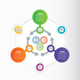 Vector circle infographic with arrows. Business concept. Vector circle infographic with arrows. Business concept with three or six steps, options, parts or Stock Images