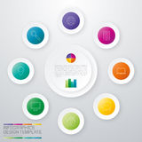 Vector circle infographic royalty free illustration