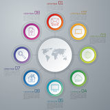 Vector circle infographic vector illustration