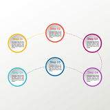 Vector circle infographic. Business diagrams, presentations and charts. Background. Vector circle infographic. Business diagrams, presentations and charts Royalty Free Stock Photography