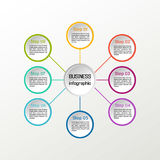 Vector circle infographic. Business diagrams, presentations and charts. Background. Vector circle infographic. Business diagrams, presentations and charts Stock Image