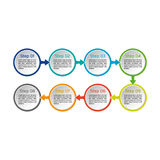 Vector circle infographic. Business diagrams, presentations and charts. Background. Vector circle infographic. Business diagrams, presentations and charts Royalty Free Stock Image