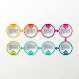 Vector circle infographic. Business diagrams, presentations and charts. Background. Royalty Free Stock Photo