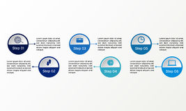 Vector circle infographic. Business diagrams, presentations and charts. Background Stock Image