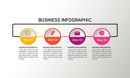 Vector circle infographic. Business diagrams, presentations and charts. Background Royalty Free Stock Photo