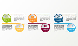 Vector circle infographic. Business diagrams, presentations and charts. Background. Stock Image